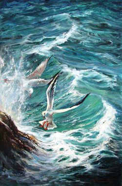 waves and determination, Oil