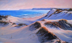 Sussex inlet dunes (Sussex Inlet, South Coast NSW), 38 x 58 cm, Oil on canvas