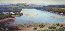 Beautiful Minnamurra (Illawarra, NSW), 30H x 61 cm, Oil on canvas