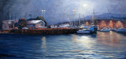 Wollongong harbour (Wollongong, NSW), 36 x 63 cm, Oil on canvas