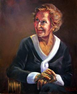My mum 2009 Oil on canvas 59 x 49 cm