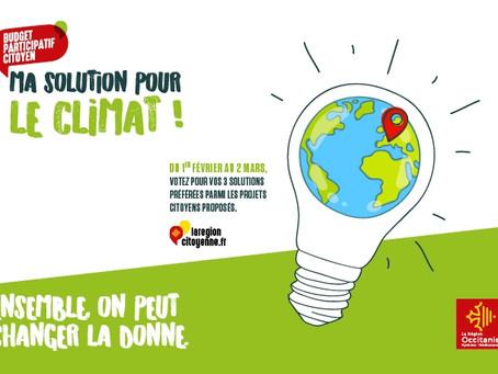 """Occitanie : """"Ma solution pour le climat"""""""