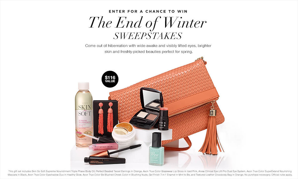 Avon End of Winter Sweepstakes online for free 2018