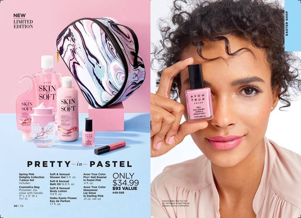 spring beauty avon sets - spring pink delights collection