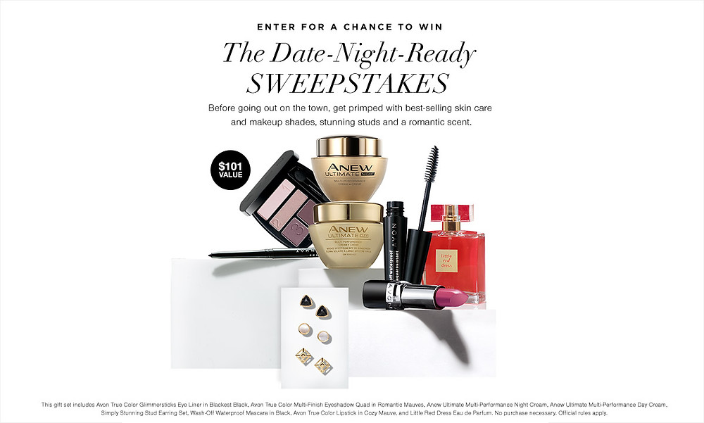date night ready sweepstakes  - win free beauty products 2018