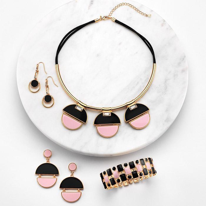 avon fall jewelry - modern geo jewelry set