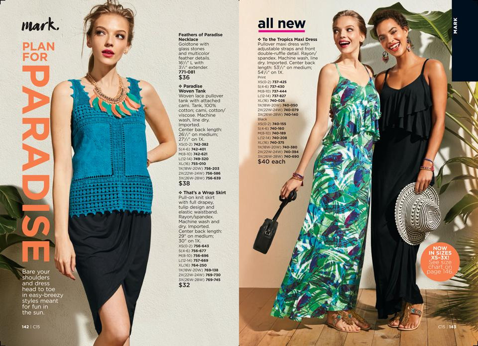 plan for paradise mark summer fashion collection avon
