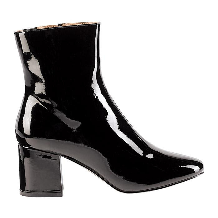 AVON Cushion Walk Faux-Patent Leather Ankle Boot - fall fashion 2018