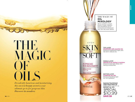 AVON Skin So Soft - The Magic of Oils