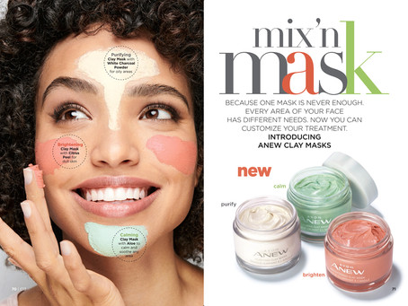 New! AVON Mix n Match Anew Clay Masks