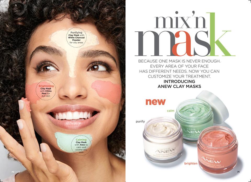 avon mix n match clay masks