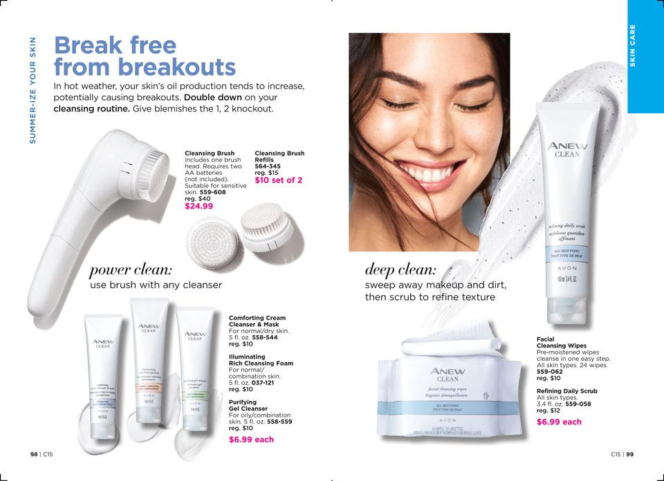 avon summer skin care routine