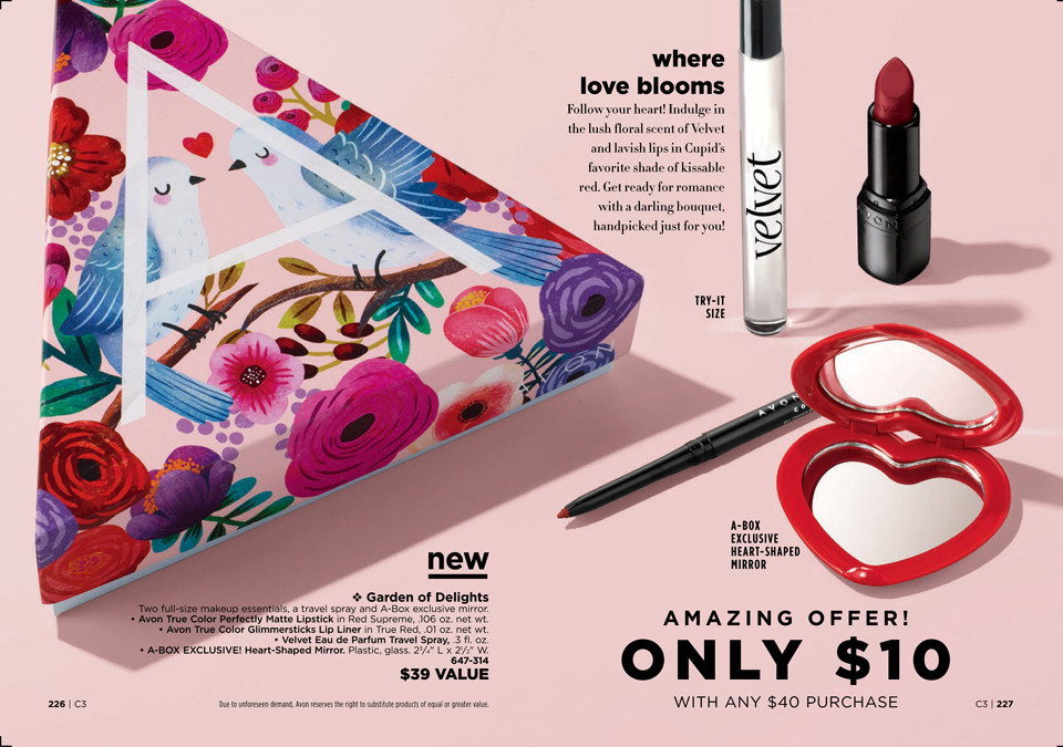 avon a box campaign 3 2019 Garden of Delights