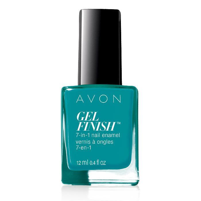 avon gel finish 7-in-1 nail enamel - teal me about it