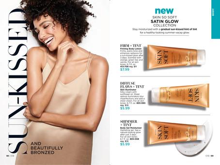 NEW! AVON Skin So Soft Satin Glow Collection