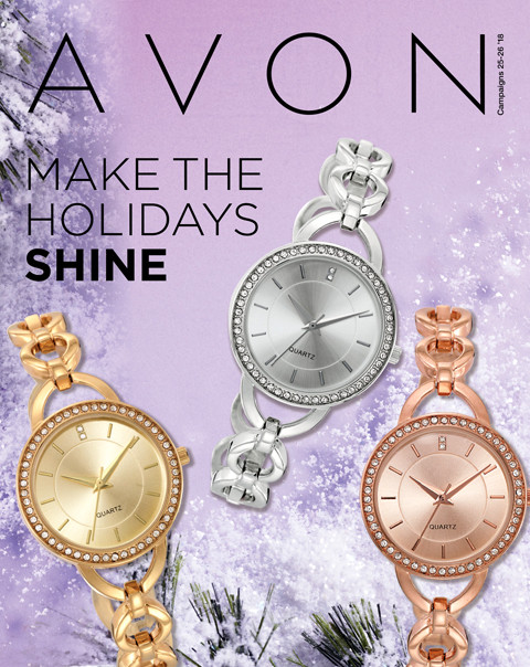 avon campaign 25-26 2018 brochure online make the holidays shine