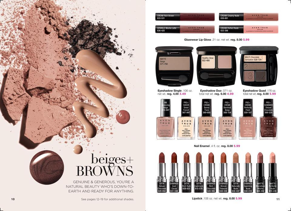 AVON True Color Collections: beiges + browns