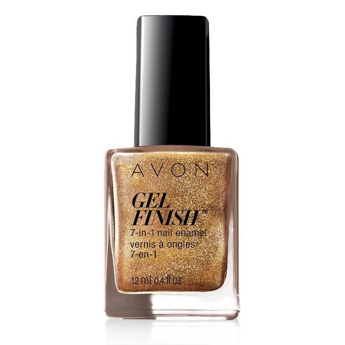 avon gel finish 7-in-1 nail enamel - glimmer