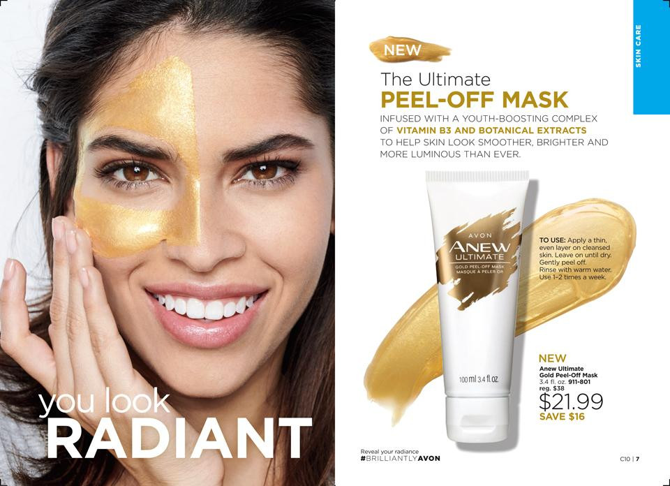 Avon anew ultimate gold peel off face mask