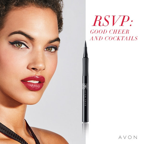 Holiday Party Pretty Makeup Looks by AVON Look #1 Good Cheer