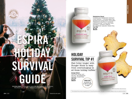 Holiday Eating Survival Guide - 6 AVON Espira Tips