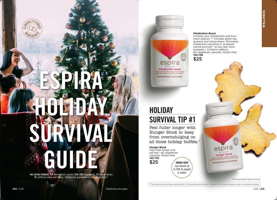 Holiday Eating Survival Guide AVON Espira Tip #1
