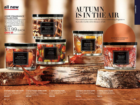 Top 6 AVON Fall Candle Scents