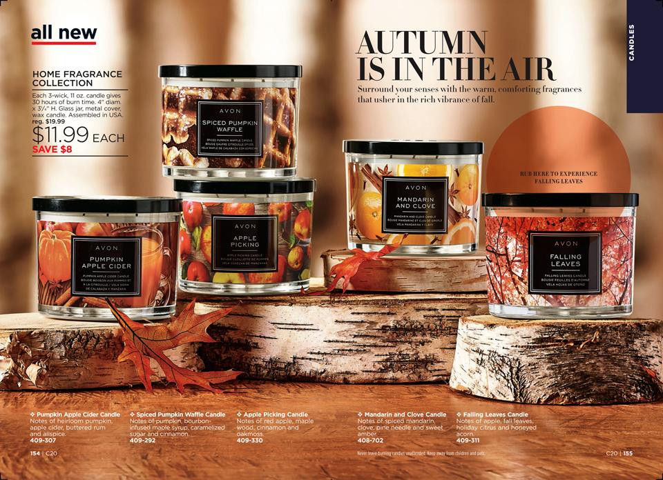 avon fall candle scents - avon home fragrance collection