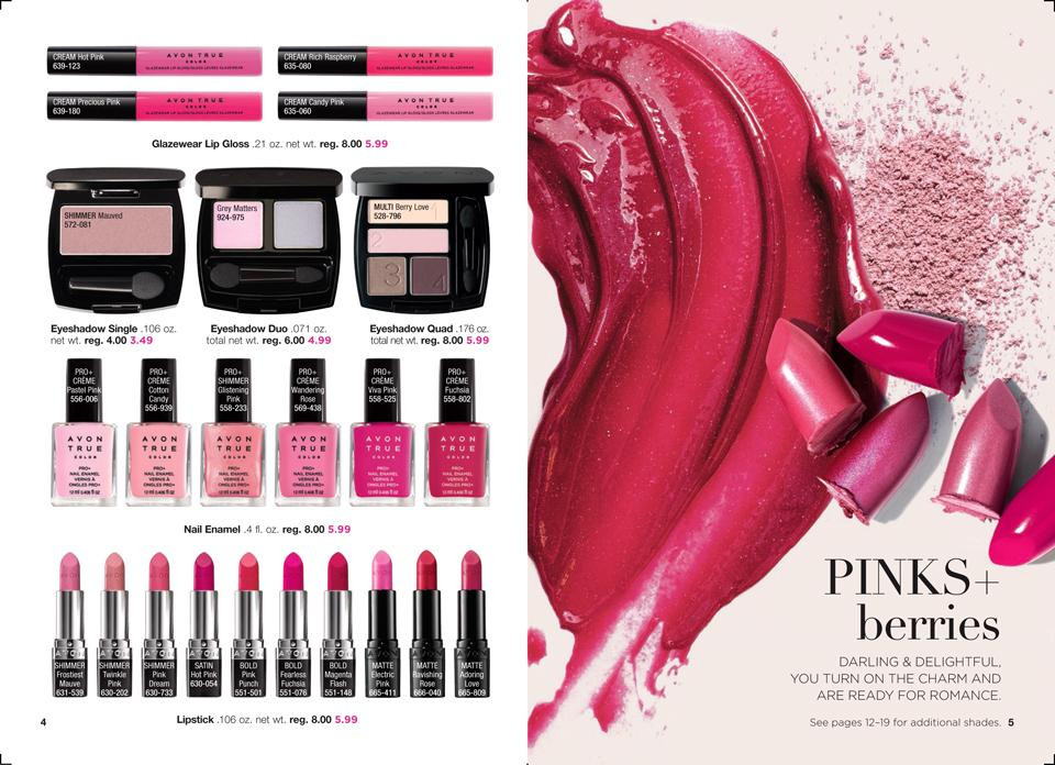 AVON True Color Collections: Pinks + berries