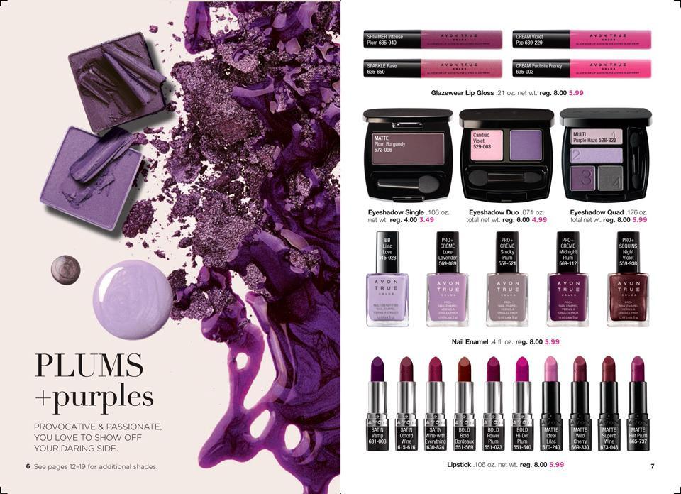 AVON True Color Collections: Plums + purples