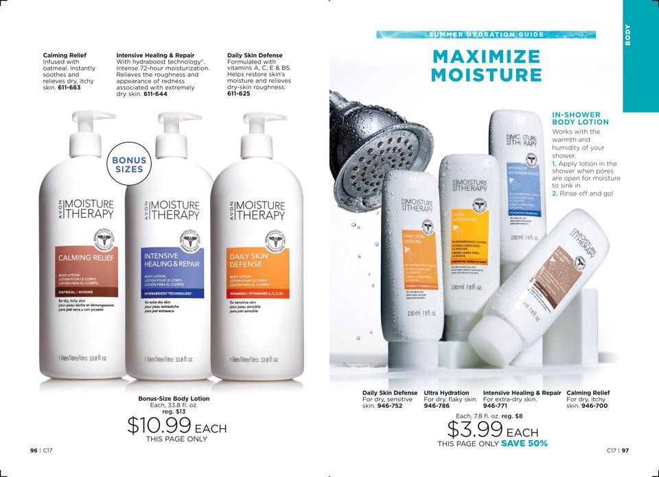 AVON Summer Guide to Total Body Hydration