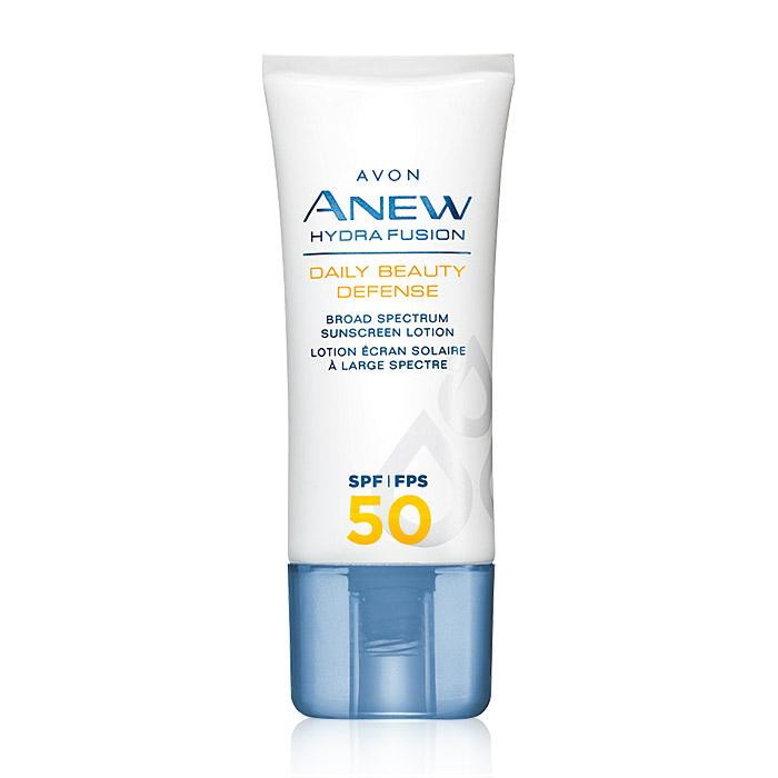 avon anew hydra fusion daily beauty defense broad spectrum sunscreen lotion SPF 50