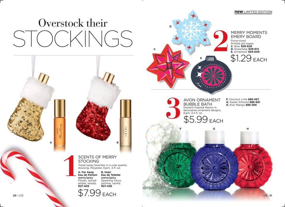 Avon Holiday 2018 Christmas Stocking Stuffers