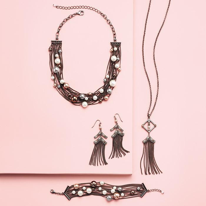avon fall jewelry 2018 - Pearly Parisian Fringe jewelry