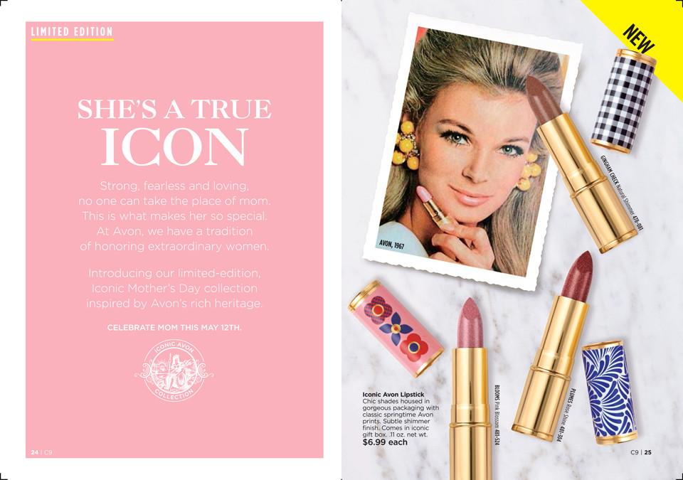 Mother's Day AVON Gift Ideas 2019 www.youravon.com/michellemulcahy Iconic Lipsticks
