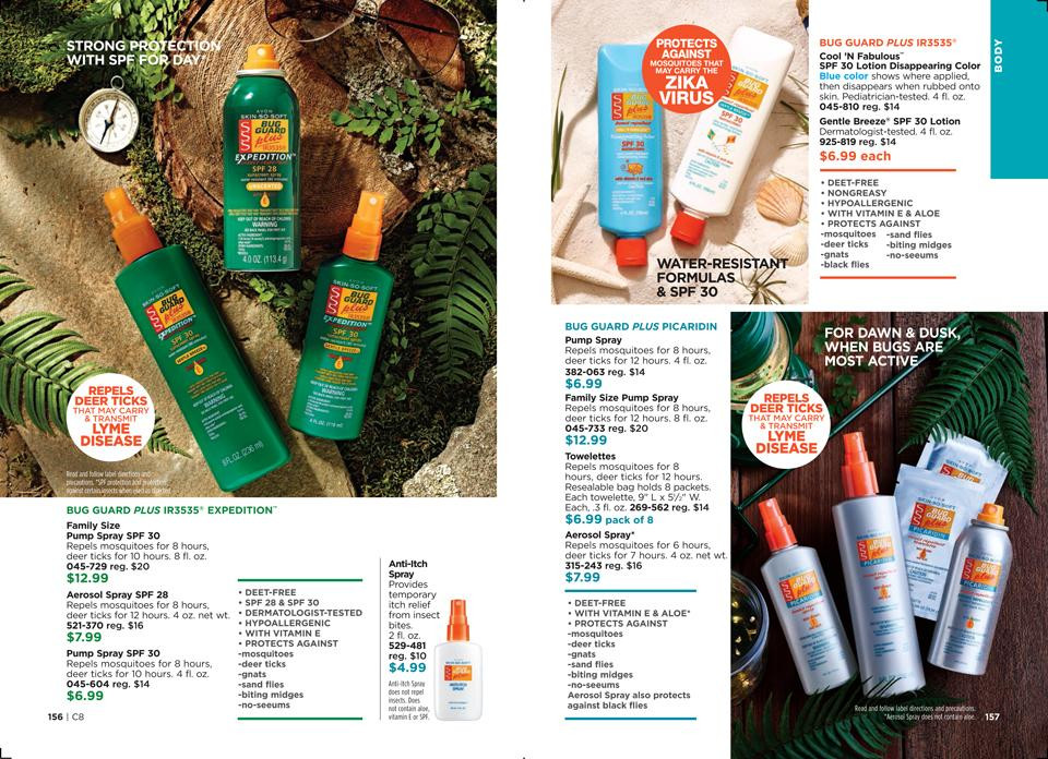 AVON Skin so soft bug guard - best mosquito repellent spray with sunscreen