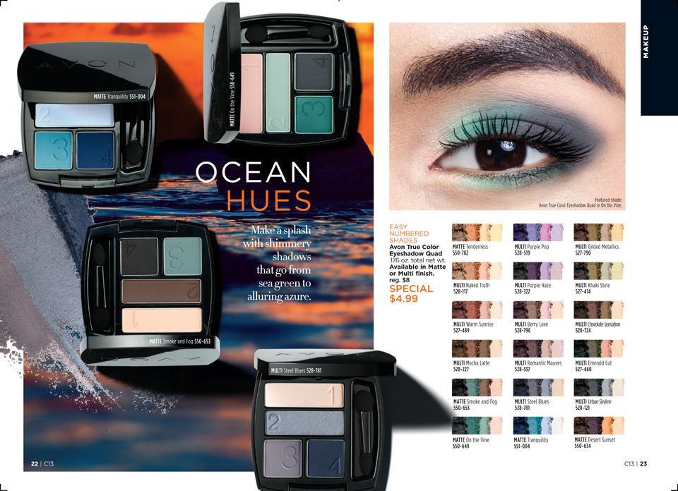 avon summer eyeshadow in ocean hues