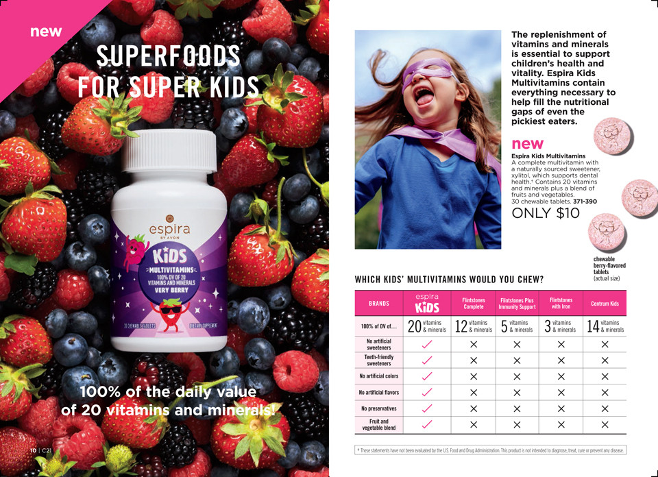avon campaign 21 2018 brochure - kids multivitamin