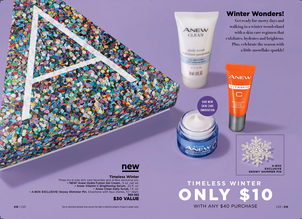 AVON A Box Campaign 23 2018 Timeless Winter