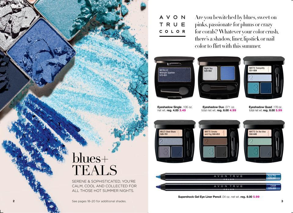 AVON True Color Collections: blues +TEALS