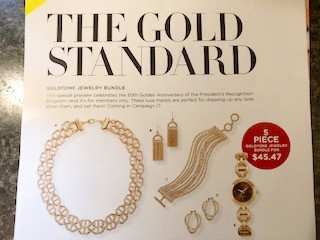 new avon products 2018 - goldtone jewelry