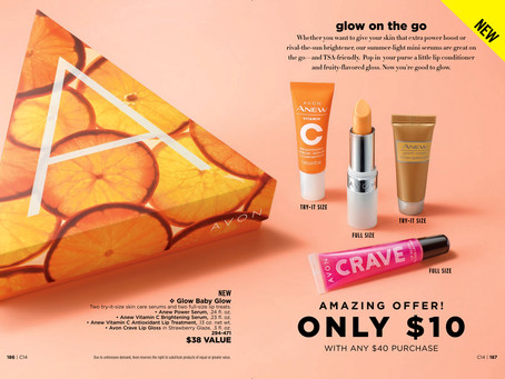 AVON A Box Campaign 14 2019 - Glow On The Go