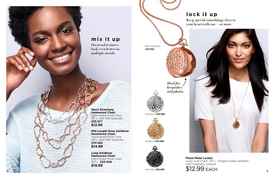 Avon spring jewelry guide 2018