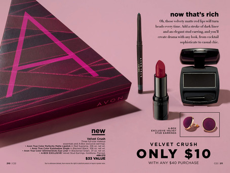 AVON A Box Campaign 22 2018 - Velvet Crush!