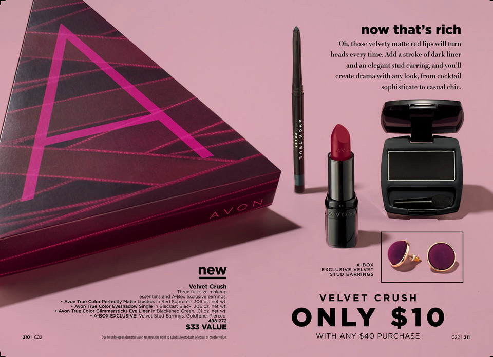 avon a box campaign 22 2018 velvet crush