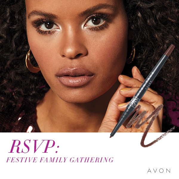 Holiday Party Pretty Makeup Looks by AVON Look #3 Family Gathering