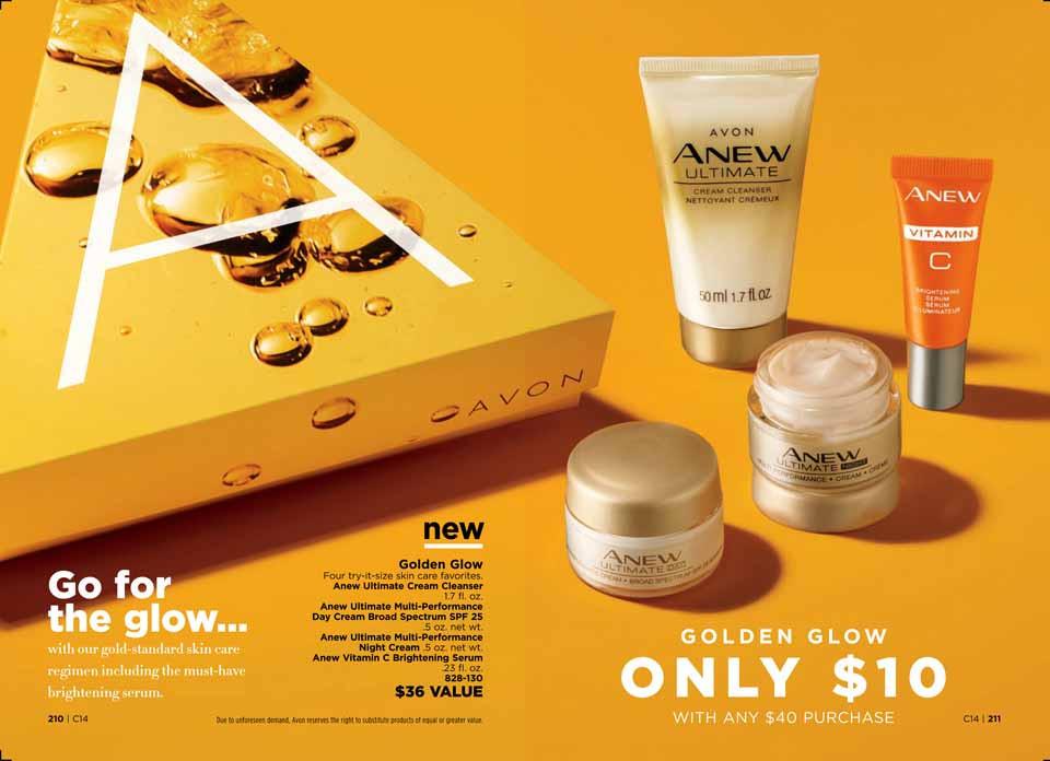 avon a box campaign 14 2018 Golden Glow
