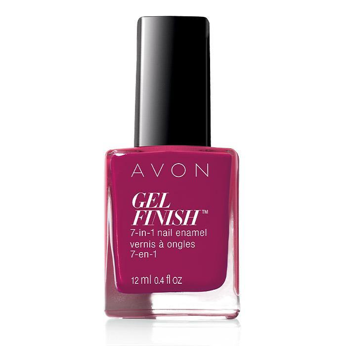avon gel finish 7-in-1 nail enamel - very berry