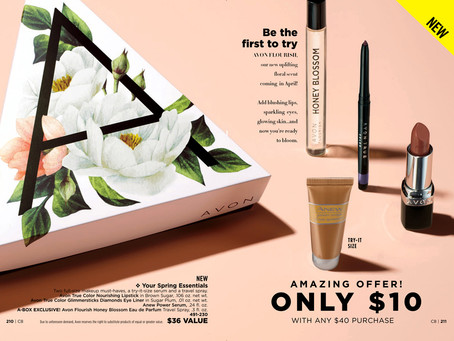 AVON A Box Campaign 8 2019 - Your Spring Essentials