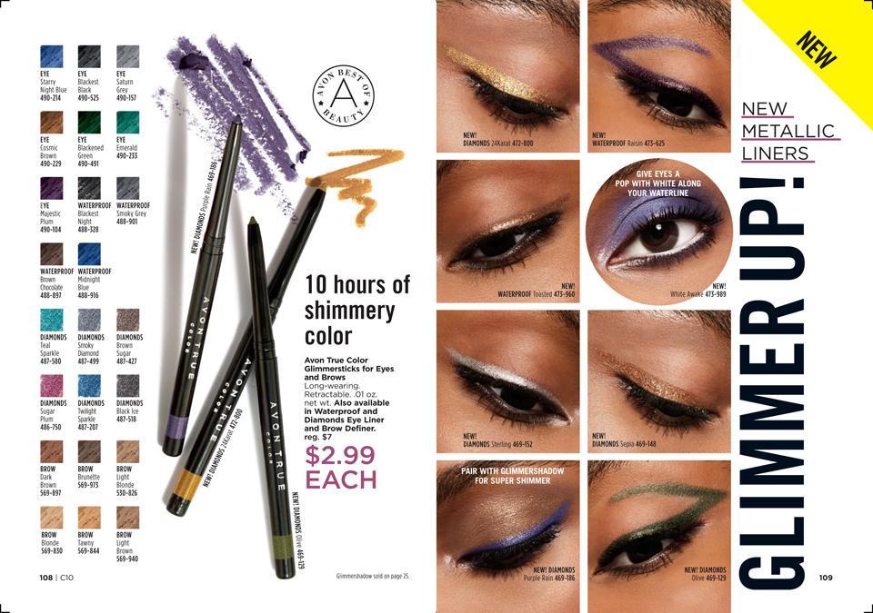 Avon metallic eyeliners